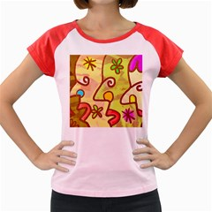 Abstract Faces Abstract Spiral Women s Cap Sleeve T Shirt by Amaryn4rt