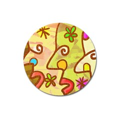 Abstract Faces Abstract Spiral Magnet 3  (round)
