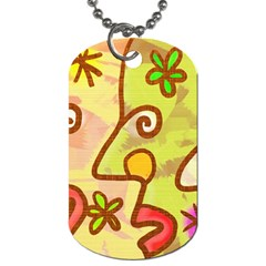 Abstract Faces Abstract Spiral Dog Tag (two Sides) by Amaryn4rt