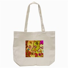 Abstract Faces Abstract Spiral Tote Bag (cream) by Amaryn4rt