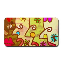 Abstract Faces Abstract Spiral Medium Bar Mats by Amaryn4rt