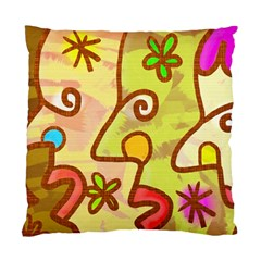 Abstract Faces Abstract Spiral Standard Cushion Case (one Side) by Amaryn4rt