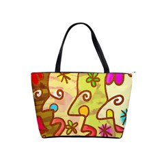 Abstract Faces Abstract Spiral Shoulder Handbags by Amaryn4rt