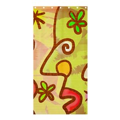 Abstract Faces Abstract Spiral Shower Curtain 36  X 72  (stall)  by Amaryn4rt