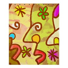 Abstract Faces Abstract Spiral Shower Curtain 60  X 72  (medium)  by Amaryn4rt