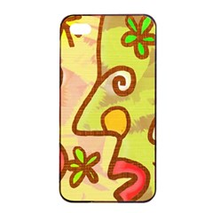 Abstract Faces Abstract Spiral Apple Iphone 4/4s Seamless Case (black) by Amaryn4rt