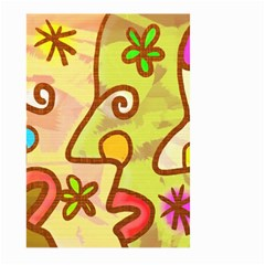 Abstract Faces Abstract Spiral Large Garden Flag (two Sides) by Amaryn4rt