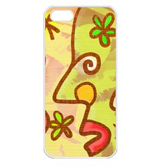 Abstract Faces Abstract Spiral Apple Iphone 5 Seamless Case (white) by Amaryn4rt