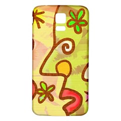 Abstract Faces Abstract Spiral Samsung Galaxy S5 Back Case (white) by Amaryn4rt