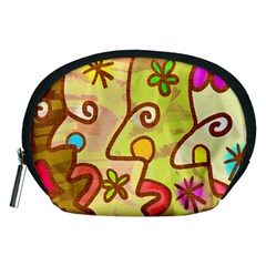 Abstract Faces Abstract Spiral Accessory Pouches (medium)  by Amaryn4rt