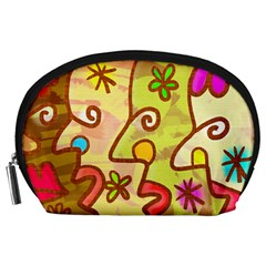 Abstract Faces Abstract Spiral Accessory Pouches (large)  by Amaryn4rt