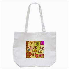 Abstract Faces Abstract Spiral Tote Bag (white) by Amaryn4rt