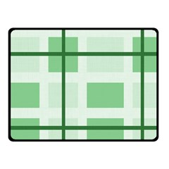 Abstract Green Squares Background Fleece Blanket (small) by Amaryn4rt