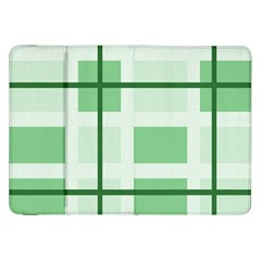 Abstract Green Squares Background Samsung Galaxy Tab 8 9  P7300 Flip Case by Amaryn4rt