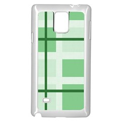 Abstract Green Squares Background Samsung Galaxy Note 4 Case (white) by Amaryn4rt