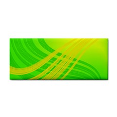 Abstract Green Yellow Background Cosmetic Storage Cases by Amaryn4rt