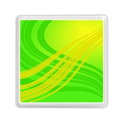 Abstract Green Yellow Background Memory Card Reader (square)  by Amaryn4rt
