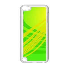 Abstract Green Yellow Background Apple Ipod Touch 5 Case (white) by Amaryn4rt
