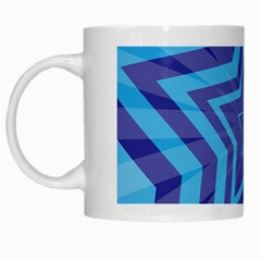 Abstract Starburst Blue Star White Mugs by Amaryn4rt