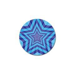 Abstract Starburst Blue Star Golf Ball Marker (10 Pack) by Amaryn4rt