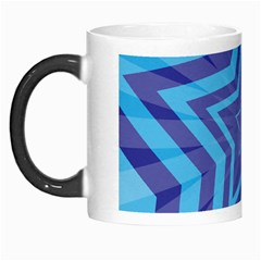 Abstract Starburst Blue Star Morph Mugs by Amaryn4rt