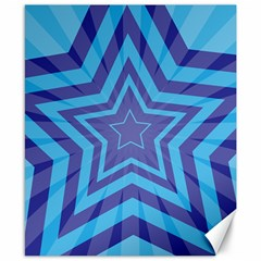 Abstract Starburst Blue Star Canvas 8  X 10  by Amaryn4rt