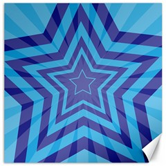 Abstract Starburst Blue Star Canvas 12  X 12   by Amaryn4rt