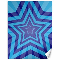 Abstract Starburst Blue Star Canvas 12  X 16   by Amaryn4rt