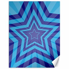 Abstract Starburst Blue Star Canvas 18  X 24   by Amaryn4rt