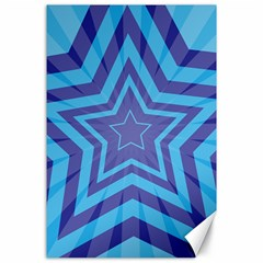 Abstract Starburst Blue Star Canvas 24  X 36  by Amaryn4rt