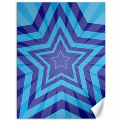 Abstract Starburst Blue Star Canvas 36  X 48   by Amaryn4rt