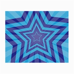 Abstract Starburst Blue Star Small Glasses Cloth (2 Side) by Amaryn4rt