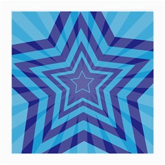 Abstract Starburst Blue Star Medium Glasses Cloth (2 Side) by Amaryn4rt