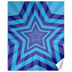 Abstract Starburst Blue Star Canvas 11  X 14   by Amaryn4rt