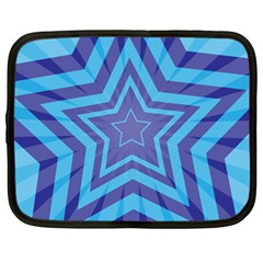 Abstract Starburst Blue Star Netbook Case (large) by Amaryn4rt