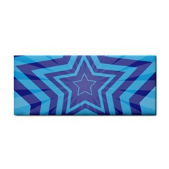 Abstract Starburst Blue Star Cosmetic Storage Cases by Amaryn4rt