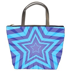 Abstract Starburst Blue Star Bucket Bags by Amaryn4rt