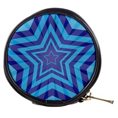 Abstract Starburst Blue Star Mini Makeup Bags by Amaryn4rt