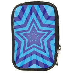 Abstract Starburst Blue Star Compact Camera Cases by Amaryn4rt