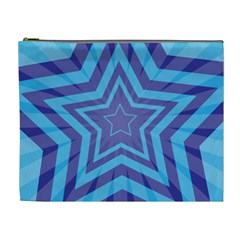 Abstract Starburst Blue Star Cosmetic Bag (xl) by Amaryn4rt