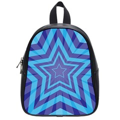 Abstract Starburst Blue Star School Bags (small)  by Amaryn4rt