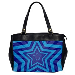 Abstract Starburst Blue Star Office Handbags by Amaryn4rt