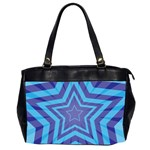 Abstract Starburst Blue Star Office Handbags (2 Sides)  Front
