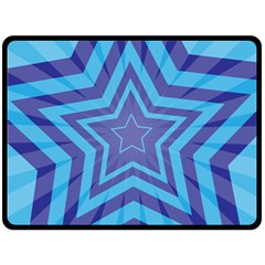 Abstract Starburst Blue Star Fleece Blanket (large)  by Amaryn4rt