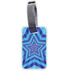 Abstract Starburst Blue Star Luggage Tags (two Sides) by Amaryn4rt