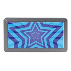Abstract Starburst Blue Star Memory Card Reader (mini) by Amaryn4rt