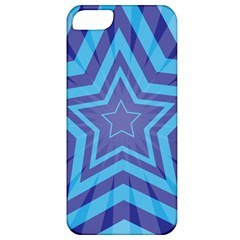 Abstract Starburst Blue Star Apple Iphone 5 Classic Hardshell Case
