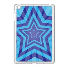 Abstract Starburst Blue Star Apple Ipad Mini Case (white) by Amaryn4rt
