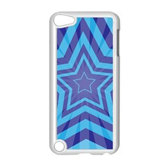 Abstract Starburst Blue Star Apple Ipod Touch 5 Case (white) by Amaryn4rt