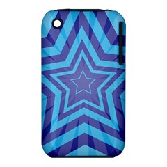 Abstract Starburst Blue Star Iphone 3s/3gs by Amaryn4rt